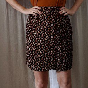 1990's Paisley High Waist Skirt